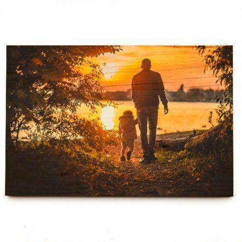 8x12 photo print on wood